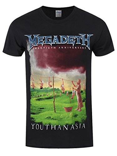Megadeth T-Shirt Youthanasia da uomo in nero