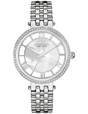 Caravelle New York Damen-Armbanduhr TRANSPARENCY Analog Quarz Edelstahl 43L183