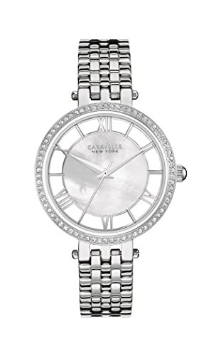 caravelle-new-york-womens-quartz-watch-with-transparency-analogue-quartz-stainless-steel-43l183
