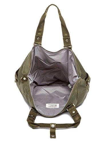 GEORGE GINA & LUCY, Damen Handtaschen, Weekender, Shopper, Schultertaschen, Freizeittaschen, 50 x 33 x 17 cm (B x H x T), Farbe:Hellgrau oliv-khaki