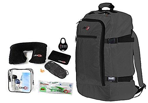 Cabin GO Zaino cod. MAX 5540 bagaglio a mano/cabina da viaggio, 55 x 40 x 20 cm, 44 litri approvato volo IATA/EasyJet/Ryanair (Grigio/Nero)
