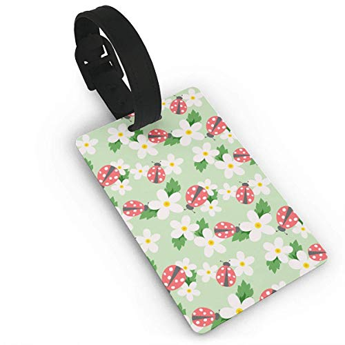 Ladybug Floewers Duffle Bag Tag Etiqueta del Equipaje Suitcases Label