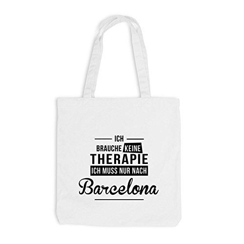 Borsa Di Juta - Non Ho Bisogno Di Terapia Di Barcellona - Terapia Spagna Bianca Spagna