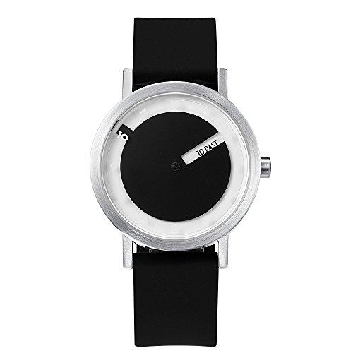 Traser 7215SL Unisex Black Rubber Band Black Quartz Dial Watch