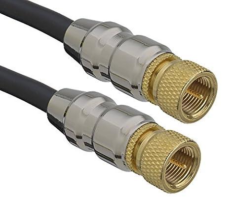 aricona Antennenkabel F zu F Stecker – HDTV Satellitenkabel für SAT Receiver / 2 Meter