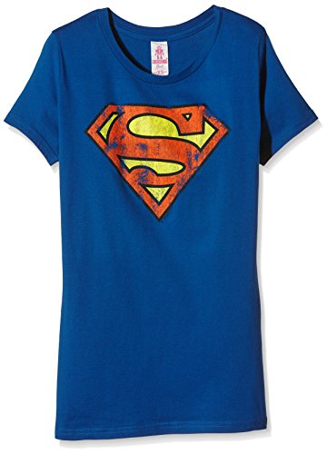 Logoshirt Damen T-Shirt Superman-Logo, Blau (Azure Blue 091), M