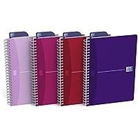 OfficeCentre Oxford Office Beauty - Cuadernos de anillas (A5, 180 páginas), multicolor - Pack de 5 unidades