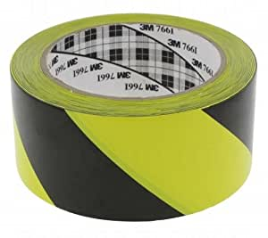 Scotch vinyle 3 M 764I Jaune/Noir 50 MM de long
