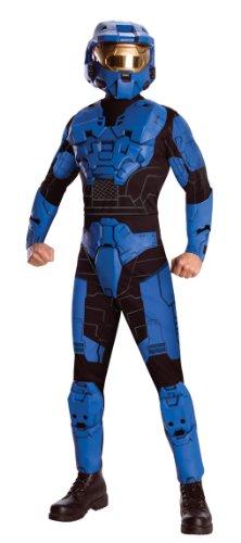 Blue Spartan Deluxe Kostüm (Spartan Kostüme Blue)