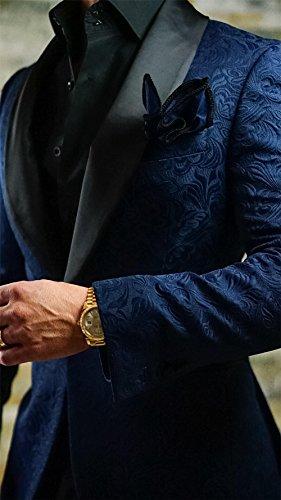 GEORGE BRIDE -  Giacca da abito  - Uomo Marineblau+Schwarz
