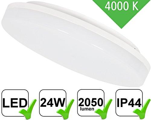 UltraSlim LED 24W IP44montaggio TV a schermo piatto rotondo-2050lm-per ambienti