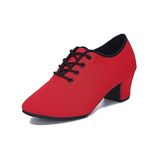 Damen Mädchen Damen Professionelle Tanzschuhe Latin Tanzschuhe Damen Erwachsene Oxford Tuch weichen Boden Größe 220-260 rote Schuhe Latin/Chacha/Samba/Modern/Jazz Tanzschuhe ( Größe : 43 1/3 EU )