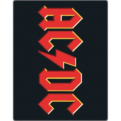 AC/DC-Grande Retro Logo coperta in pile 100% poliestere 152cm x