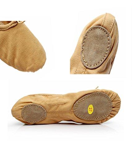 Mintice™ Bauchtanz Gymnastik Schuhe Ballettschuhe Ballerina Balletschläppchen aus Leinen Jazz Karneval Indien Tanzschuhe Kamel