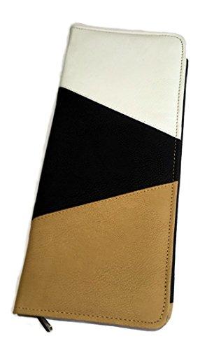 KNIT PRO Rhine Series - Custodia per ferri da maglia a punta singola da 35/40 cm, in similpelle, multicolore