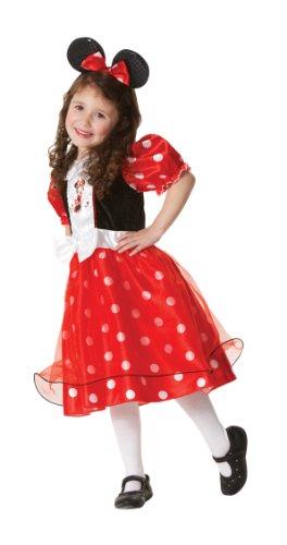 Red Spotty Minnie Mouse Kostüm Medium 5-6 Jahre, Kleid und (Figur Kostüme Minnie Maus)