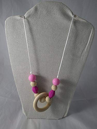 Collier de portage/allaitement rose