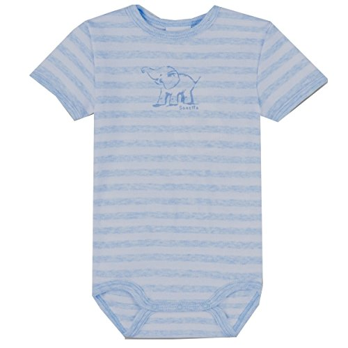 Sanetta Baby-Jungen Body 322452, Blau (Bleu Melange 50240), 68