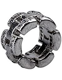 4piezas plata tono cristal Spacer Beads Fit europeo pulseras A1540