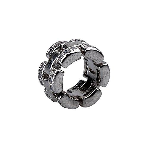 4Silber Ton Kristall Spacer Perlen Beads Passend für Europäische Armbänder A1540