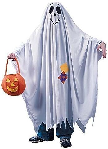 Enfants Garçon Filles Happy Fantôme Halloween Costume Déguisement 4-12 ans - Bleu, 7-9 years
