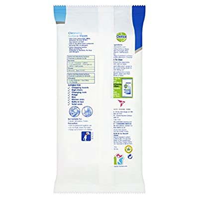 Dettol Antibacterial  Surface Cleaning Wipes, 84 Wipes : everything five pounds (or less!)