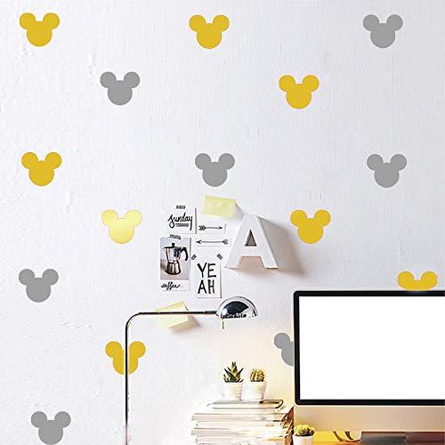 wandaufkleber 3d Wandtattoo Kinderzimmer Mickey Mouse Wandaufkleber Aufkleber 30 Teile/satz Kinder Bett Wohnzimmer Mickey Mouse Cartoon Wandaufkleber Selbstklebende Diy - Fee-bett-satz