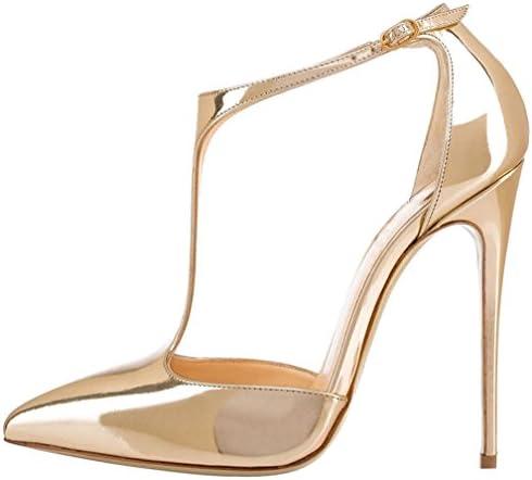 Calaier Mujer Casupermarket Tacón De Aguja 12CM Sintético Hebilla Sandalias de vestir Zapatos