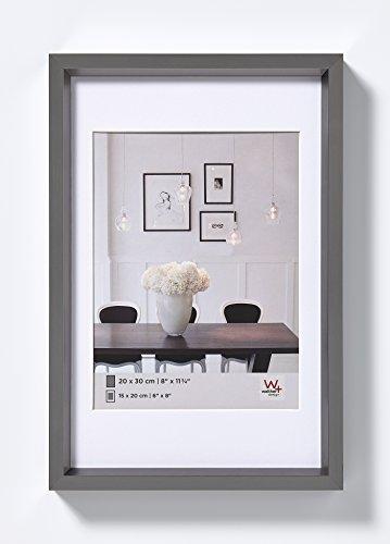 walther design, ES460D Steel Style, Kunststoff-Bilderrahmen, 40x60 cm, stahl