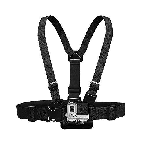 Granvoo Chest Mount Harness ABS+Tuch Für Gopro HERO 3/3+/4/5 Sport-Kamera Chest Mount Harness