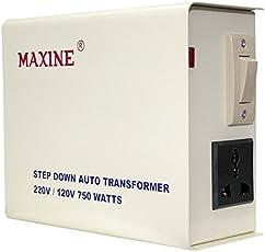 Maxine 750 Watts Auto Wound Voltage Converter 220 V To 110 V Step Down Toroidial Transformer