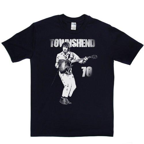 Pete Townshend English Musician Rock Group 70 T-shirt Marineblau