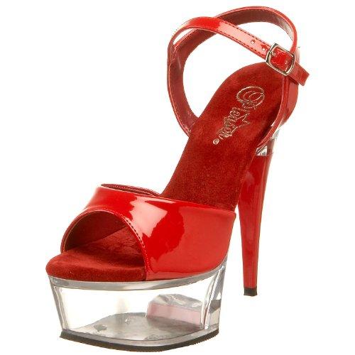 Pleaser, Sandali donna Rouge (Red Pat/Clr)