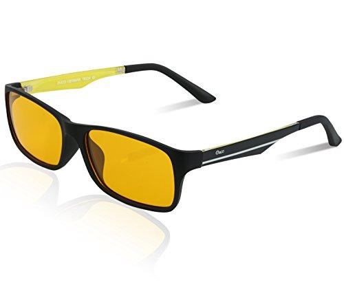 DUCO Blaulicht Schutzbrille Gaming Brille Blaulichtfilter 223 (Gelb/Gelb)