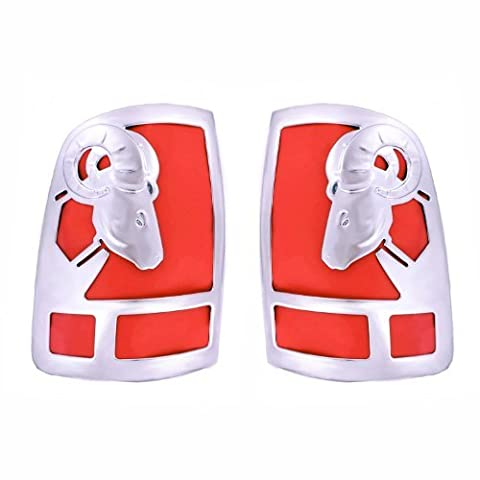 Big Horns Tail Light Covers For Dodge ~ Ram Pickup ~ 2009-2016 - Chrome ABS ~ 1500 Only, 2 PC Set by All Sales