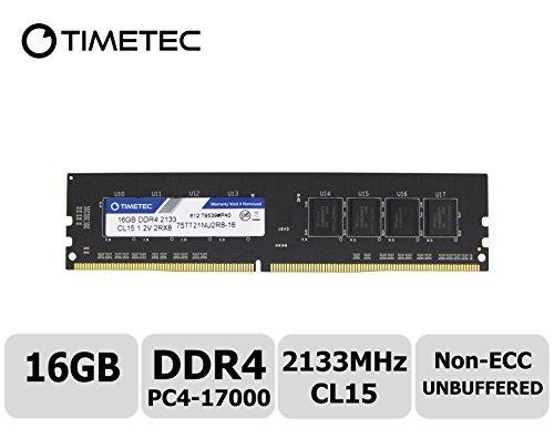 Nicht-ecc Single (Timetec HYNIX IC 4GB DDR42133MHz, PC4-17000Nicht ECC Unbuffered 1,2V CL151R8Single Rank 288Pin UDIMM Desktop PC Computer Memory RAM Arbeitsspeicher Upgrade 16 GB)