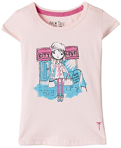 Palm Tree Baby Girls' T-Shirt (132030660577 1357_Purple berry(1357)_9-12 Months)  available at amazon for Rs.199