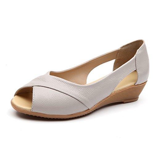 Estate Donna Sandali scarpe tacchi alti impermeabile,39 nero Beige