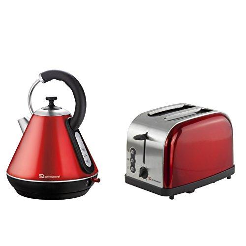 Electroménager Russell Hobbs Inspire électrique 1.7 L Cruche Bouilloire et Grille-pain 4 fentes Set-Rouge
