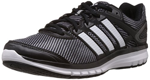 adidas Men's Duramo 61 M Cherry Black, White and Carbon Metallic Polyester Running Shoes - 11 UK  available at amazon for Rs.3599