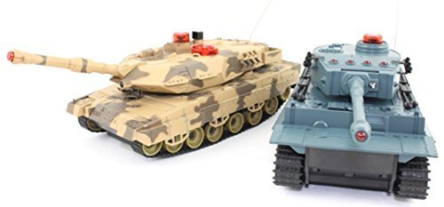 Rechargeable Radio Remote Control Fighting Infra Red Army Military Battle Tanks