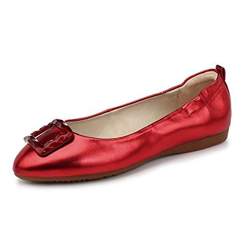 Scarpe moda/Ballerine Scarpe/Scarpe confortevoli dolce egg roll/Bow scarpe E