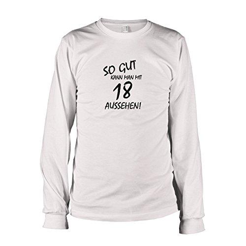 man mit 18 aussehen - Langarm T-Shirt, Herren, Größe XXL, weiß (Guter Bruder Und Schwester Kostüme)
