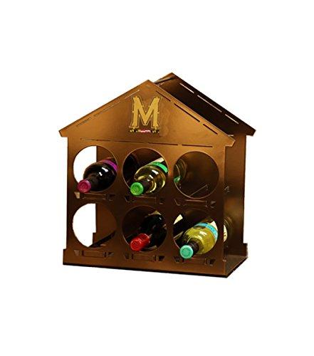 Terri Metall funktioniert Universität Maryland Logo Wein Rack