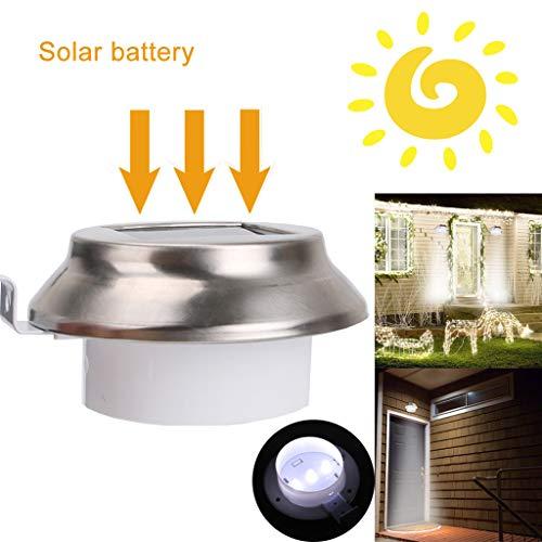 Webla Solar Garden Light Automatisch 3Led White Garden Wall Fence Track Light, Solar Power/Wasserdichtes Ip44 / 600Mah Akku/eingebauter Lichtquellensensor