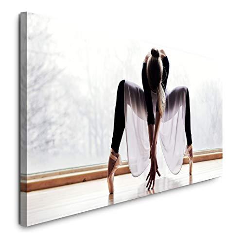 Paul Sinus Art GmbH Ballett Tänzerin 120x 50cm Panorama Leinwand Bild XXL Format Wandbilder Wohnzimmer Wohnung Deko Kunstdrucke (Ballett Wohnungen Hochzeit)