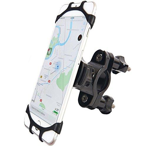 """Fahrrad Handyhalterung, Anti-Shake 360 Drehen Universal GPS Halter für Straßenfahrräder Motorrädern Mountainbike und Scootern, Geeignet für 4,0"""" bis 6,0"""" Zoll Smartphone Oder Andere Geräte"""