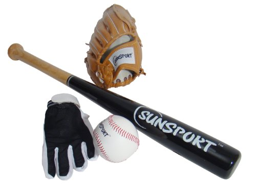 Sunsport Baseball Set 4-teilig Junior Equipment für Kinder