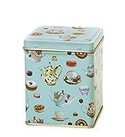 Boîte à thé–Petit carré 100GM–Teatime théières Design–9.5cm