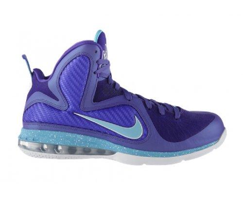 NIKE LeBron 9 Scarpa da Basket Uomo pure purple, turquoise blue-wht